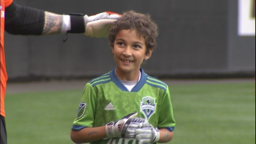8-year-old battling cancer practices with Sounders for Make A Wish
