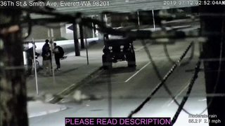 RAW: Surveillance video shows quake shaking in Everett 7-12-19