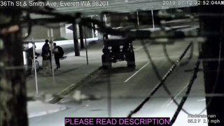 RAW: Surveillance video shows quake shaking in Everett 7-12-19