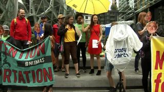 RAW: Rally held outside Amazon spheres in Seattle