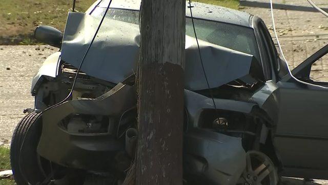 Driver arrested after crash into child, car, power pole