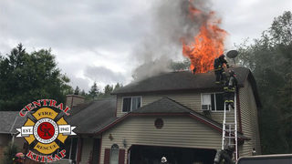 Man taken to hospital after Bremerton house fire