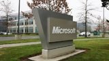 A Microsoft sign sits on their campus January 22, 2009 in Redmond, Washington. The company annouced earlier today they would be laying off up to 5000 employees within the next 18 months. (Photo by Robert Giroux/Getty Images)