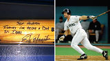 """Edgar Martinez signed this bat for Mike Austin, during his first of three tours in Iraq as a Marine. """"To Sgt. Austin,"""" he wrote, """"thanks for being a DH in Iraq."""""""
