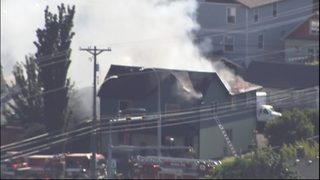 PHOTOS: Fire rips through Tacoma duplex