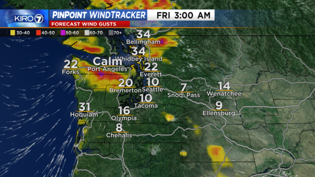 Breezy and wet Friday as rare August storm moves through   KIRO-TV