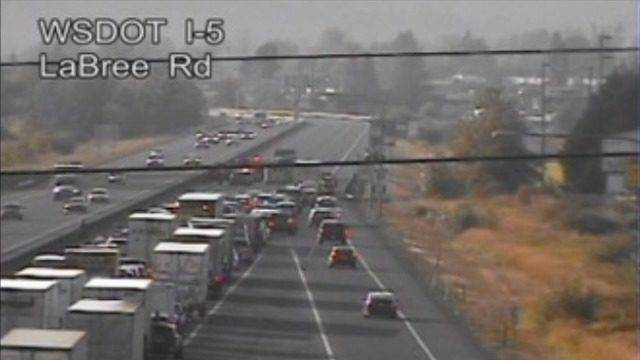 1 airlifted to Harborview after crash shuts down NB I-5 in
