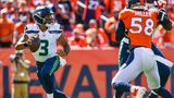 Quarterback Russell Wilson #3 of the Seattle Seahawks rolls out of the pocket against the Denver Broncos in the first quarter of a game at Broncos Stadium at Mile High on September 9, 2018 in Denver. (Photo by Dustin Bradford/Getty Images)