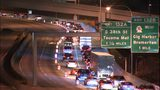 VIDEO: Several lanes of I-5 in Tacoma shut down for roadwork