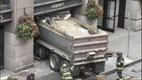VIDEO: Dump truck hits restaurant
