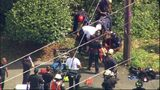 VIDEO: Man transported to Harborview after falling down ravine in West Seattle