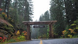Welcome sign at Gifford Pinchot National Forest on WA 123.