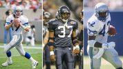 Left: Dave Krieg via Getty images Middle: Shaun Alexander via G. N. Lowrance/NFLPhotoLibrary Right: Chris Warren via Doug Pensinger /Allspor