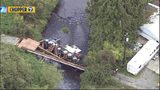 A bridge over Wood Creek in Monroe collapsed Monday, Sept. 16, but no injuries were reported.