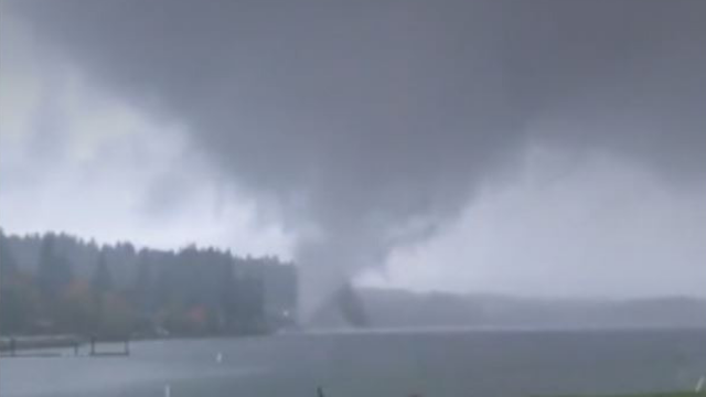 RAW: Waterspout spotted near Shelton