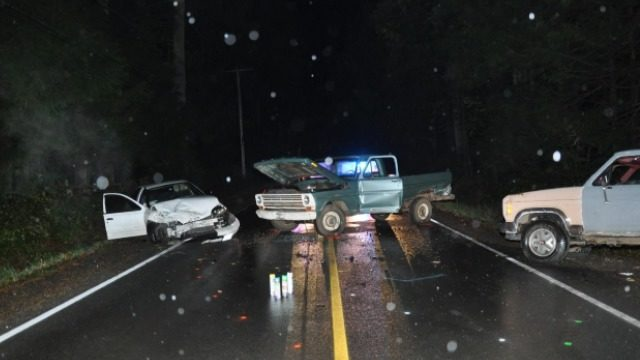 1 dead in three-vehicle crash in Kitsap County