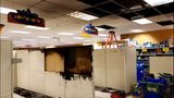 VIDEO: Fire inside Lake City Fred Meyer intentionally set