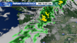 Rain forecast to move through Puget Sound midday Friday, Oct. 24.