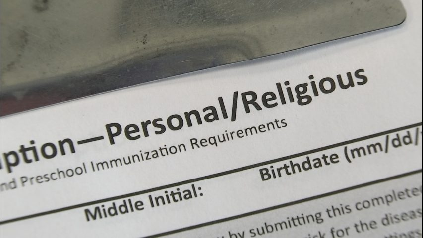 Students excluded from school; religious exemptions rise after new MMR vaccine law