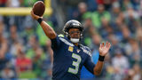 SEATTLE, WA - NOVEMBER 03: Quarterback Russell Wilson #3 of the Seattle Seahawks passes against the Tampa Bay Buccaneers at CenturyLink Field on November 3, 2019 in Seattle, Washington. (Photo by Otto Greule Jr/Getty Images)