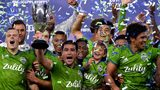 Nicolas Lodeiro holds up the trophy in celebration of a 3-1 win over the Los Angeles FC during the Western Conference finals at Banc of California Stadium on October 29, 2019 in Los Angeles, California. (Photo by Harry How/Getty Images)