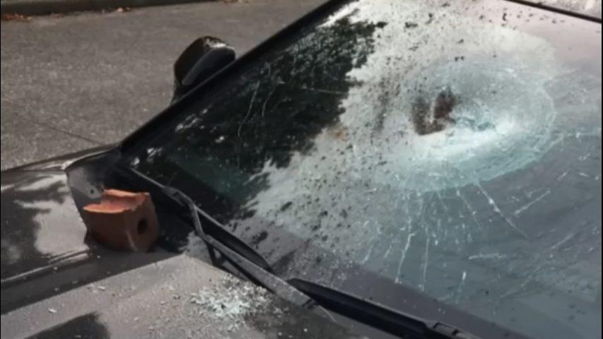 Bricks, rocks thrown at cars across West Seattle