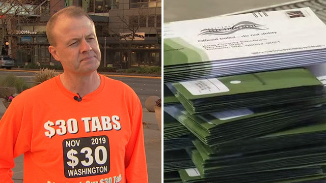 Lawsuit filed to stop $30 car tabs in Washington