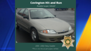 Investigators believe the suspect vehicle may be an unknown color 2000-2002 Chevrolet Cavalier and may have extensive front end damage. This is a picture of what the car may look like. (Credit: King County Sheriff's Office)