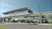 A rendering of the Northgate Link Light Rail station, which is set to open in 2021.