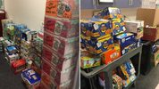 Photos from Sumner High School of some of the items donated.