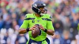 Russell Wilson #3 of the Seattle Seahawks looks to pass the ball during the game against the Los Angeles Rams at CenturyLink Field on October 03, 2019 in Seattle, Washington. (Photo by Alika Jenner/Getty Images)